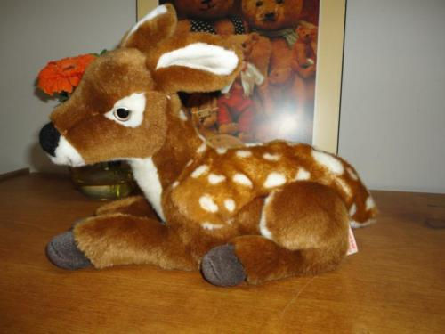 Hermann Germany Laying Fawn Deer Plush Retired
