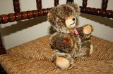 Germany Bear Soft Plush Jointed Teddy Knitted Bow