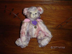 Effanbee Doll Co Pink Purple Mohair Jester Jointed Bear Essentials KEEBLER