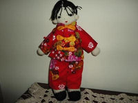 Chinese Girl Handmade Knitted Doll w Clothing 13 inch