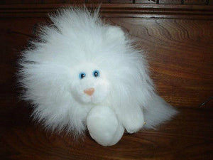 24K Gina Persian Cat White Soft Plush 6.5 Inch 5360 Polar Puff Mighty Star 1990