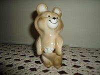 Misha Russian Olympic Bear Mascot Figurine Marked 43-60
