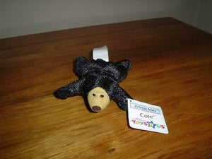 Animal Alley Toys R Us Miniature Black Bear Cole 4.5 Inch All Tags 2001