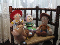 Set AH Disney Europe Toy Story 4 Dolls Nicotoy Woody Buzz Jessie Bullseye Rare
