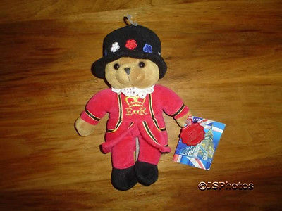 Keel Toys Bears of the United Kingdom Beefeater WTags