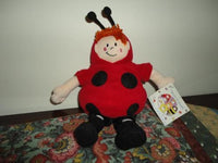 Flower Friends LADY BUG Stuffed Boy DOLL Roy Trower 2001 Papel Giftware