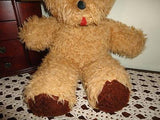 Antique Tongue Bear Beige Brown Plush Best Made Toys Canada 20 inch 1960s