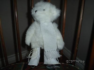 Hallmark Bear Winter White Skating Teddy Fully Jointed