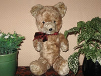Antique 1930s Dutch Van Gelden Jointed Teddy Bear French Brown Mohair 15 Inch