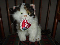 Valentine Cat & Heart Stuffed Plush Very Realistic Tags