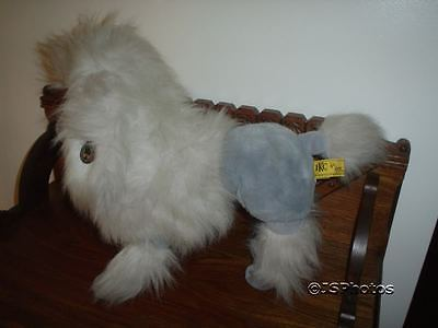 24K French Poodle Dog Gray Plush 19 Inch 9022 Polar Puff Mighty Star 1985