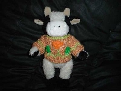 Chrisha Playful Plush Cow Stuffed 9 Inch Vintage 1988