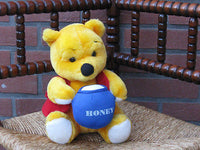 Vintage Winnie The Pooh Bear with Honey Pot Johnson Toys Manchester UK