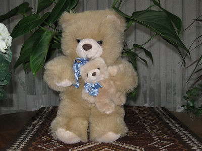 Dutch Holland 14 Inch Momma & Baby Bear Soft Plush