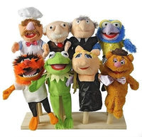 MUPPETS Hand Puppets NEW MUPPET SHOW MOVIE Set of 8 Disney  2012 All Cards RARE