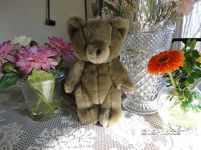 Antique Teddy Bear Grey Jointed 10 inch So Cute