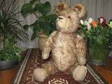 Antique Old Hermann Germany Bear 22 Inch Brown Mohair