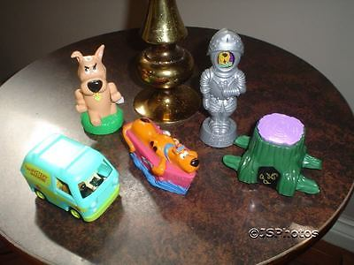 Scooby Doo Lot of 6 Toys Wind Up Mechanical