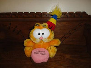 Dakin Vintage 1980s Happy Birthday GARFIELD Stuffed Toy