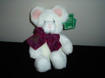Russ Berrie Tic Toc Mouse Plush 101334 Handmade Tags