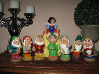 Vintage EURO Snow White Money Bank & 7 Squeaking Dwarfs