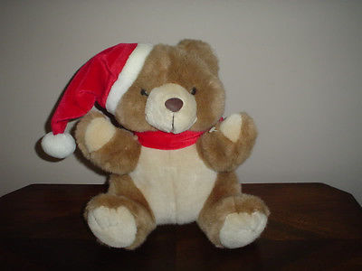 Ganz 1996 Christmas Teddy Bear Named Short Bread 11 inch