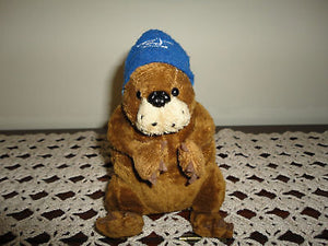 Bell Mobility Canada Beaver with Hat Plush Toy