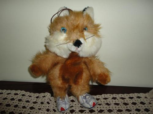 Antique Vintage Ganz Bros Canada FOX Brown Red Stuffed Plush 13 Inch 1950s