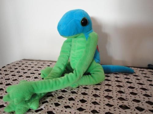 Green Blue IGUANA LIZARD Hanging Stuffed Toy