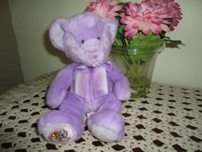 Russ Birthday Zodiac Purple Bear VIRGO Handmade Retired