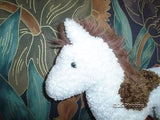 Douglas Pony Horse Plush Toy 10 Inch White & Brown
