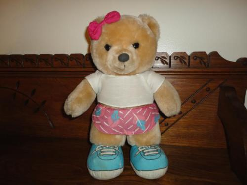 Applause Jam Bear Buff Three Cheers 12 Inch Vintage 1988