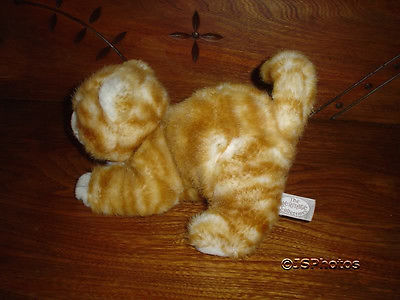 Ganz Heritage Vintage 1989 Tabby Cat Stuffed Plush 9 inch