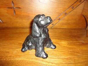 OOAK Chateau Leather COCKER SPANIEL CANADA Artist