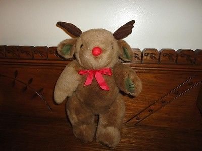 Christmas RUDOLPH REINDEER Jointed RARE Stuffed Plush