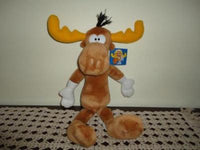 Rocky and BULLWINKLE MOOSE Stuffed Plush 17 inches
