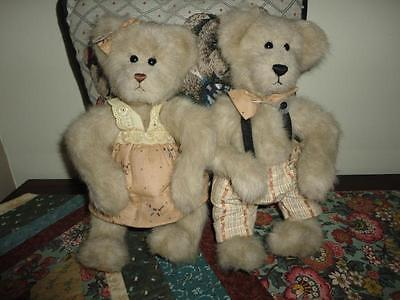 Ganz Cottage Collectibles Girl & Boy Bear Set 1998 Artist Catharine Tredger