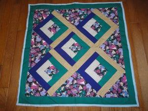 Vintage Handmade Cotton QUILT for Dolls & Bears Carriages Decoration