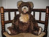 Antique Fechter Old Teddy Bear 20.5 Inch Brown Mohair Open Mouth Rare