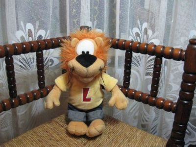Anna Club Plush Holland Loeki The Commercial Lion Letter L 13 Inch Tall