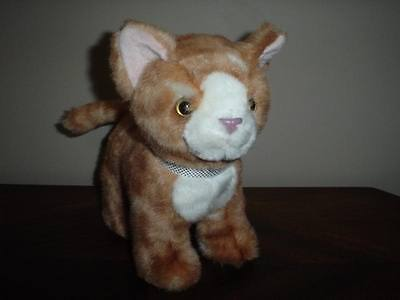 "Russ Berrie Stuffed Cat 8.5"" Tall"