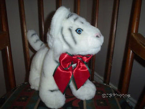 Fiesta White Tiger Christmas Cubs Plush XS39340 10 Inch