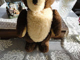 Antique Jointed Brown Teddy Bear Swivel Head 16 Inch 1950s