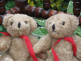 Woolen Set of 2 Jointed Teddy Bears From Holland