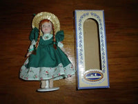Anne of Green Gables Porcelain Bisque Poseable Doll 7 Inch with Box