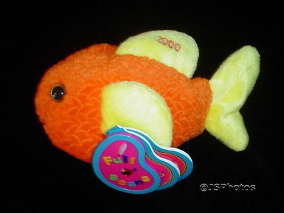 Avon Gill The Goldfish Plush 2000 Millenium Birthstone