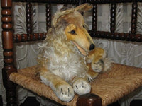Old Antique Steiff Mohair Collie Dog 2343,00 43CM 17 inches NO ID Large Laying