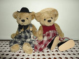 Ganz NATHAN & NICKI Bear Couple Cottage Collectibles 2 Artist Bears 1996  NEW