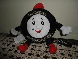 NHL Hockey OTTAWA SENATORS Puck on Skates Stuffed Toy