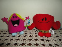 Cartoon Mr Men Show Mr. Strong & Miss Chatterbox Dolls
